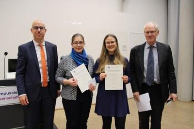 von links nach rechts: Prof.Gabriel Felbermayr, Nadine Koch, Lisa Focke, Dr. Michael Take